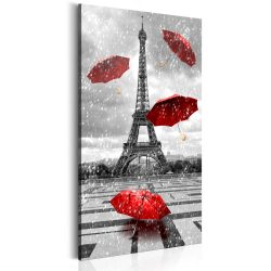 Kép - Paris: Red Umbrellas