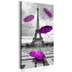 Kép - Paris: Purple Umbrellas
