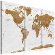 Kép - World Map: White Poetry