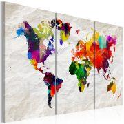 Kép - World Map: Rainbow Madness II