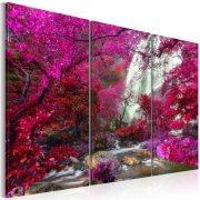 Kép - Beautiful Waterfall: Pink Forest