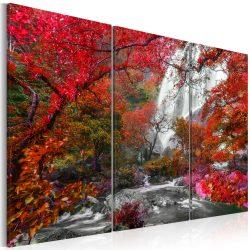 Kép - Beautiful Waterfall: Autumnal Forest