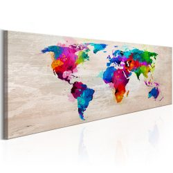 Kép - World Map: Finesse of Colours