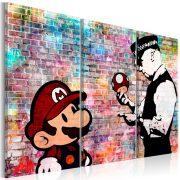 Kép - Rainbow Brick (Banksy)