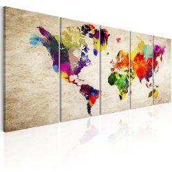 Kép - World Map: Painted World
