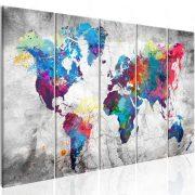 Kép - World Map: Spilt Paint