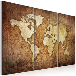 Kép - World Map: Brown Texture