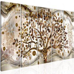 Kép - Tree and Waves (5 Parts) Brown