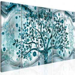 Kép - Tree and Waves (5 Parts) Blue