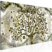 Kép - Tree and Waves (5 Parts) Green