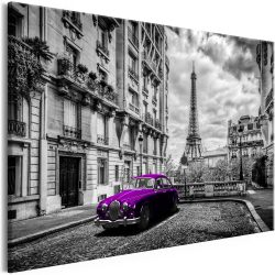Kép - Car in Paris (1 Part) Violet Wide