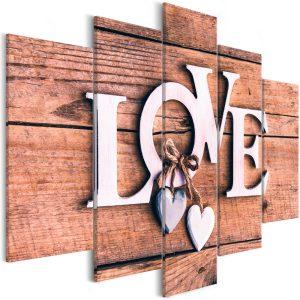 Kép - Wooden Letters (5-Parts) Wide