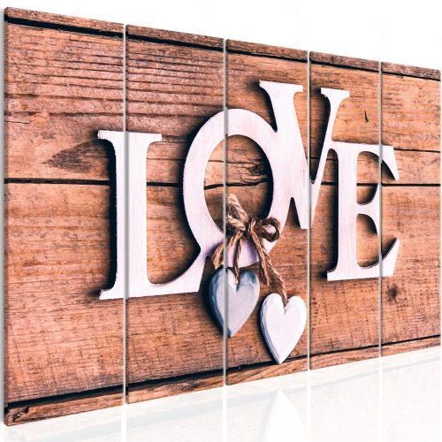 Kép - Wooden Letters (5 Parts) Narrow