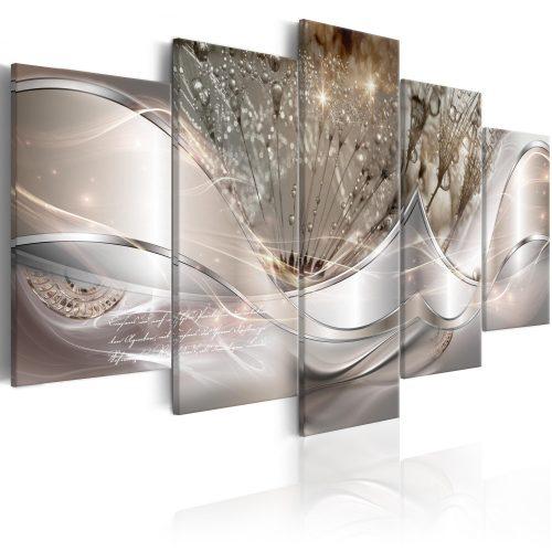 Kép - Sparkling Dandelions (5 Parts) Beige Wide