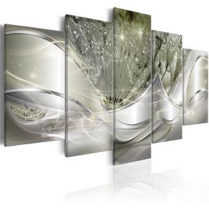 Kép - Sparkling Dandelions (5 Parts) Green Wide