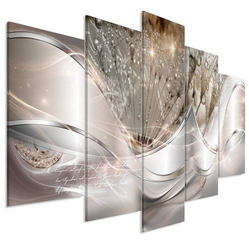 Kép - Modern Dandelions (5 Parts) Beige Wide