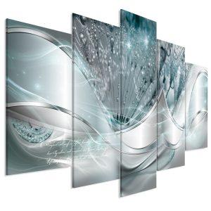 Kép - Modern Dandelions (5 Parts) Blue Wide