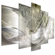 Kép - Modern Dandelions (5 Parts) Green Wide