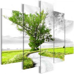 Kép - Tree near the Road (5 Parts) Green