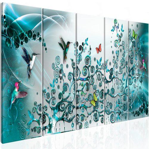 Kép - Hummingbirds Dance (5 Parts) Turquoise Narrow