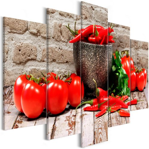 Kép - Red Vegetables (5 Parts) Brick Wide
