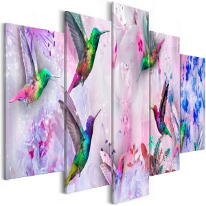 Kép - Colourful Hummingbirds (5 Parts) Wide Violet