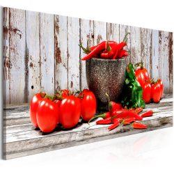 Kép - Red Vegetables (1 Part) Wood Narrow