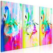 Kép - Colourful Flamingos (3 Parts)