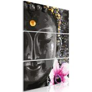 Kép - Buddha and Flower (3 Parts) Vertical