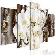 Kép - Orchid Waterfall (5 Parts) Wide Brown