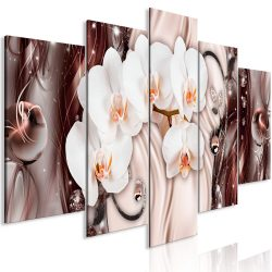 Kép - Orchid Waterfall (5 Parts) Wide Pink