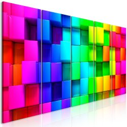 Kép - Colourful Cubes (5 Parts) Narrow