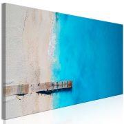 Kép - Sea and Wooden Bridge (1 Part) Narrow Blue