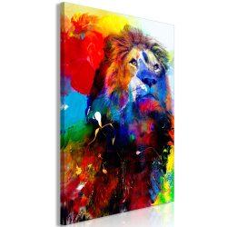 Kép - Lion and Watercolours (1 Part) Vertical