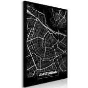 Kép - Dark Map of Amsterdam (1 Part) Vertical