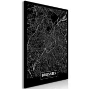 Kép - Dark Map of Brussels (1 Part) Vertical