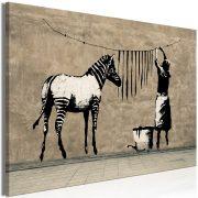 Kép - Banksy: Washing Zebra on Concrete (1 Part) Wide
