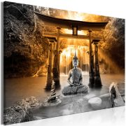 Kép - Buddha Smile (1 Part) Wide Orange