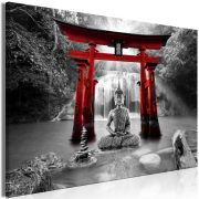 Kép - Buddha Smile (1 Part) Wide Red