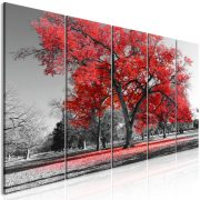 Kép - Autumn in the Park (5 Parts) Narrow Red