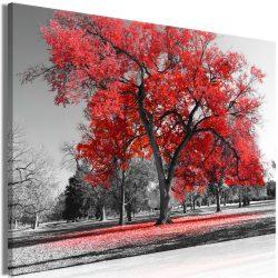 Kép - Autumn in the Park (1 Part) Wide Red