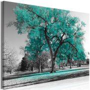 Kép - Autumn in the Park (1 Part) Wide Turquoise