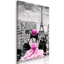 Kép - Paris Colour (1 Part) Vertical Pink