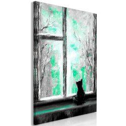 Kép - Longing Kitty (1 Part) Vertical Green