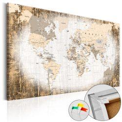 Kép parafán - Enclave of the World [Cork Map]