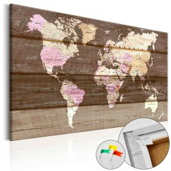 Kép parafán - Wooden World [Cork Map]