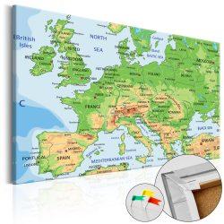 Kép parafán - Europe [Cork Map]
