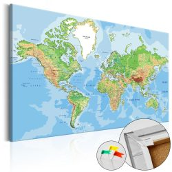 Kép parafán - World Geography [Cork Map]