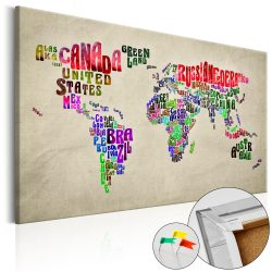 Kép parafán - Global Tournée (EN) [Cork Map]