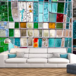 Fotótapéta - Sapphire Stained Glass